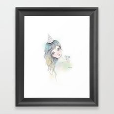 Chevron party Framed Art Print