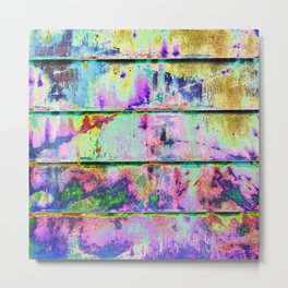 Abstract Multi-colored Wall 1749 Metal Print