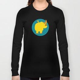 Happy rhino Long Sleeve T-shirt