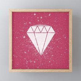 Space Diamond Framed Mini Art Print