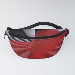 red white black -19- Fanny Pack