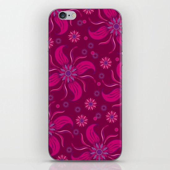 Floral Obscura Wine iPhone & iPod Skin