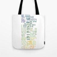 manhattan Tote Bags featuring Manhattan  by theov6