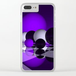 go violet -02- Clear iPhone Case