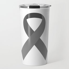Gray Awareness Support Ribbon Travel Mug