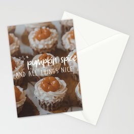 Pumpkin spice and all things nice Stationery Cards