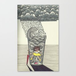 Thunder inside a Water cup Canvas Print