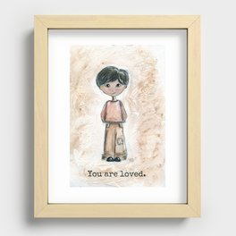 Boy, you are loved.  Recessed Framed Print