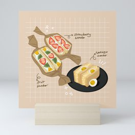 Japanese Sandwiches  Mini Art Print
