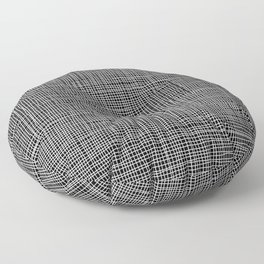 Simple checkered lines drawn by hand Floor Pillow