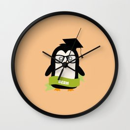 Penguin nerd from Bern T-Shirt for all Ages Wall Clock