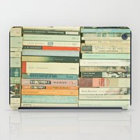 library iPad Cases featuring Bookworm by Cassia Beck