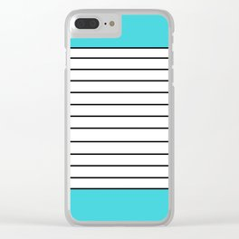Simple #society6 Clear iPhone Case