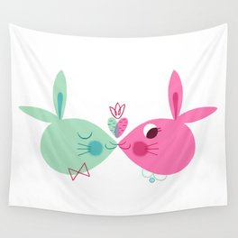 Some Bunny Loves You Wall Tapestry