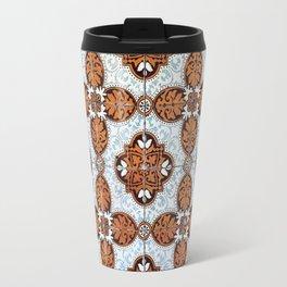 Lisbon tiles - decoratives in orange and blue Travel Mug