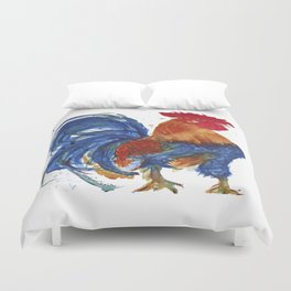 Rooster Proud watercolour by CheyAnne Sexton Duvet Cover