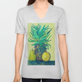 Pear and Pineapple Unisex V-Neck