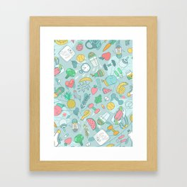 Fitness Framed Art Print