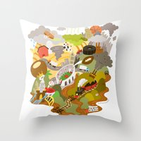 ohio Throw Pillows featuring Ohio Love! by Andy Stattmiller