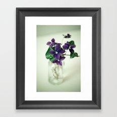 Sweet Violet Framed Art Print