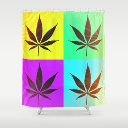 GreenRush - PopLeaf Shower Curtain