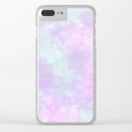 Cotton candy heaven Clear iPhone Case