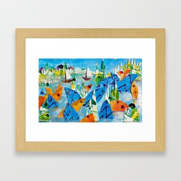 Sparkle Bay Framed Art Print