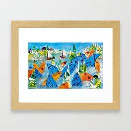 Sparkle Bay Framed Art Print