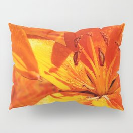 Morning Dew on Orange Lilies Pillow Sham