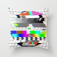 No signal Throw Pillow