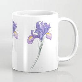 Iris 03 Botanical Flower * Lavender Purple Dutch Iris Coffee Mug