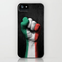 Italian Flag on a Raised Clenched Fist iPhone Case