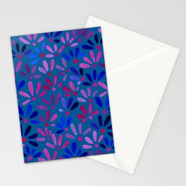 All Over Ditsy-Floral in Blue Stationery Cards