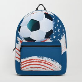 Football Ball and red, white Strokes Backpack