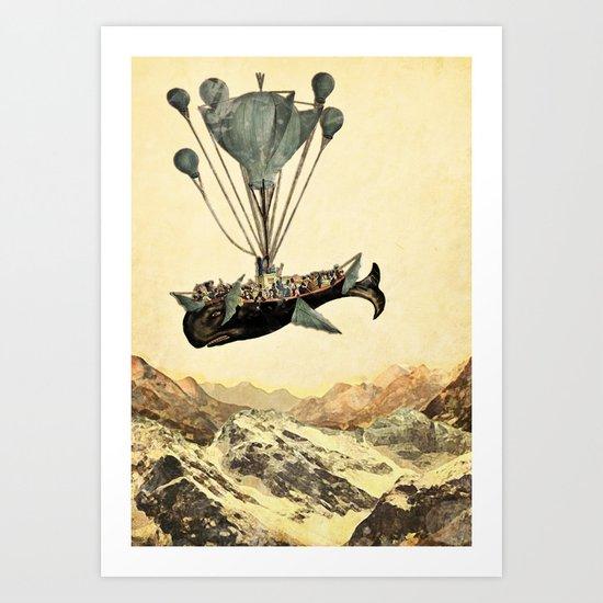 whale flight I Art Print