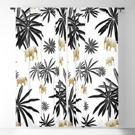 Palm Tree Elephant Jungle Pattern #1 (Kids Collection) #decor #art #society6 Blackout Curtain