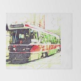501 Street car Throw Blanket