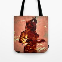 devil Tote Bags featuring Devil by Eve Divyn