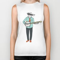 banjo Biker Tanks featuring Banjo Badger by Prelude Posters