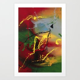 Planet Flow - abstract painting by Rasko Art Print