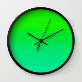 Lime Green and Sea Foam Green Ombre Wall Clock