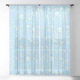 Sloth Mermaid Sheer Curtain
