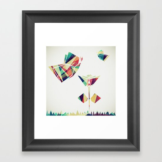 Spring Illustration Framed Art Print