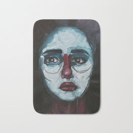 Don't cry Bernadette - Acrylics on Canvas Bath Mat