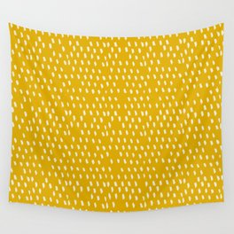 Yellow Modernist Wall Tapestry