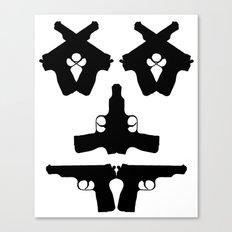 Pistol Face Canvas Print