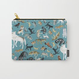 Wolves of the World pattern 2 Carry-All Pouch
