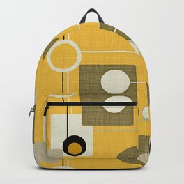orbs and square gold yellow Backpack