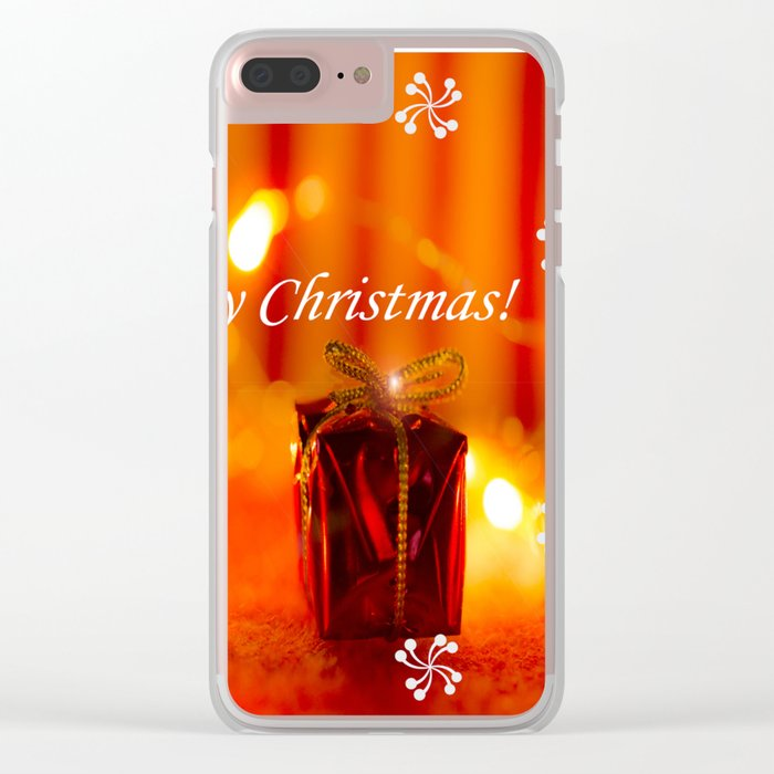Merry Christmas Still Life #decor #society6 Clear iPhone Case