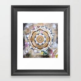 Music Mandala Framed Art Print